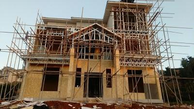 心力集团曲靖越州3层农村轻钢自建房主体完工交付装修