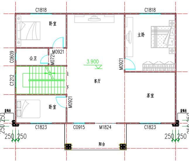❖ 心力集团 | 会泽自建房设计图纸二层