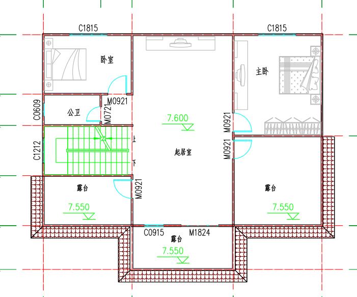 ❖ 心力集团 | 会泽自建房设计图纸三层