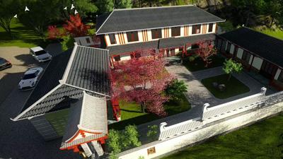 开远祁总四合院轻钢结构别墅项目施工案例