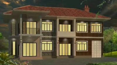 安宁石总轻钢别墅项目施工案例