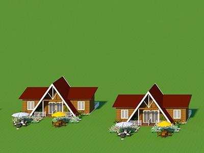 心力智造轻钢结构花园酒店配套公共设施建设
