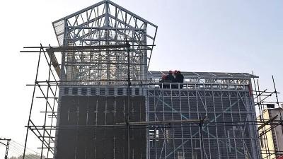云南玉溪市通海县者湾村灾后重建8套轻钢房屋项目
