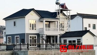 弥勒竹园镇2层农村轻钢别墅完工!这栋轻钢别墅让周边房屋黯然失色!